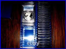 1986 2020 (34) Coin Proof American Silver Eagle Set Pcgs Pr 69
