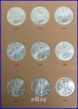 1986 2020 AMERICAN 1oz SILVER EAGLES COMPLETE SET 35 SELECTED CHOICE COINS