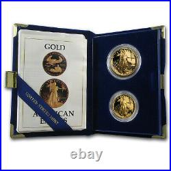 1987 2-Coin Proof Gold American Eagle Set (withBox & COA) SKU #7498