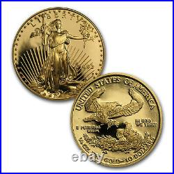 1993 4-Coin Proof Gold American Eagle Set (withBox & COA) SKU #4895