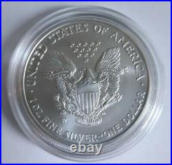 2008 W Reverse of 2007 American Eagle 1 Ounce Unc Silver Bullion Coin W OGP
