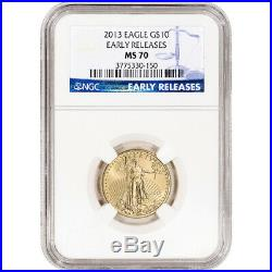 2013 American Gold Eagle 1/4 oz $10 NGC MS70 Early Releases