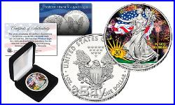 2016 1 oz. 999 Fine Silver American Eagle Coin 30th COLORIZED Ltd of 300 withBOX