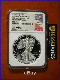 2016 W Proof Silver Eagle Ngc Pf70 Mercanti From 2019 West Point Mint Hoard