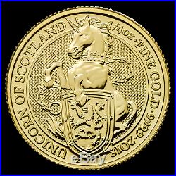 2018 Great Britain 1/4 oz Gold Queen's Beasts The Unicorn SKU #152537