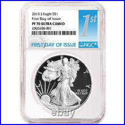 2018-S Proof $1 American Silver Eagle NGC PF70UC FDI First Label