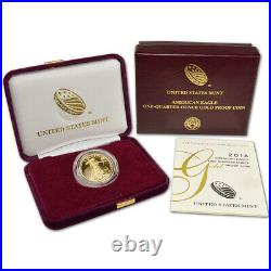 2018-W American Gold Eagle Proof 1/4 oz $10 in OGP
