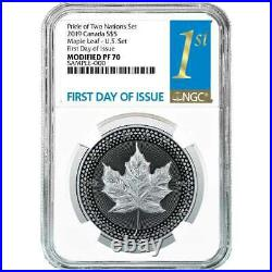 2019 Pride of Two Nations 2pc. Set U. S. Set NGC PF70 FDI First Label