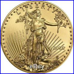 2020 1/10 oz Gold American Eagle Coin Brilliant Uncirculated DELAYED SHIPPING