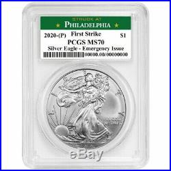 2020(P) Emergency Production American Silver Eagle PCGS MS70 First Strike