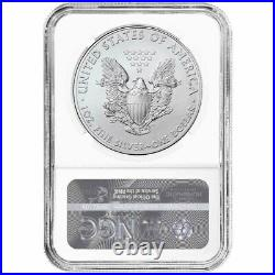 2020 (S) $1 American Silver Eagle NGC MS70 Emergency Production Trump FDI Label