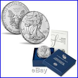 2020-W American Silver Eagle 1oz Burnished Uncirculated Coin (OGP/COA)