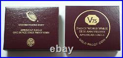 2020-W Gold American Eagle V75 Privy World War II WW2 Proof Coin with Box COA