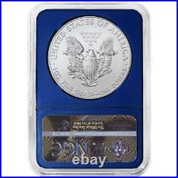 2021 $1 American Silver Eagle 3pc. Set NGC MS70 Trump Label Red White Blue