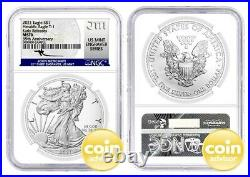 2021 $1 Heraldic Silver Eagle T-1 35th Anniv NGC MS70 Early Releases Mercanti