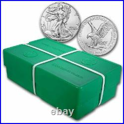 2021 1 oz American Silver Eagle BU (Type 2) Monster Box of 500 coins
