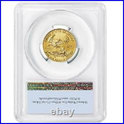 2021 $10 Type 1 American Gold Eagle 1/4 oz. PCGS MS70 First Strike Flag Label