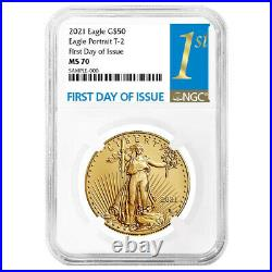 2021 $50 Type 2 American Gold Eagle 1 oz. NGC MS70 FDI First Label