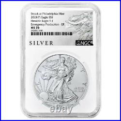 2021 (P) $1 American Silver Eagle NGC MS70 Emergency Production ALS ER Label