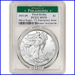 2021 (P) American Silver Eagle PCGS MS70 First Strike Emergency Issue Phil