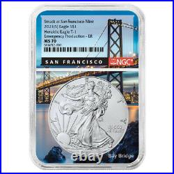 2021 (S) $1 American Silver Eagle NGC MS70 Emergency Production ER San Francisco