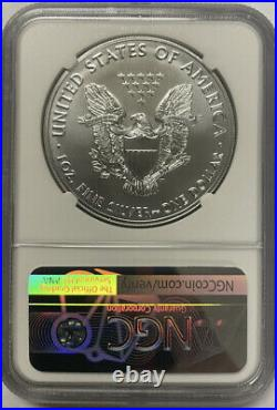 2021 (S) Silver Eagle NGC MS70 First Day of Issue Emergency Production Magnum
