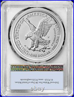 2021 W $1 Burnished Silver Eagle Type 2 PCGS SP70 First Strike Flag Label