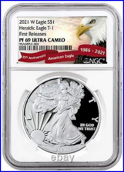 2021 W Silver Proof American Eagle Type 1 NGC PF69 UC FR Exclusive Eagle Label