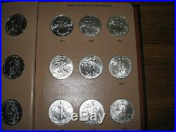 35 Coin Complete Set Silver American Eagle S In Dansco United States Dollars Gem
