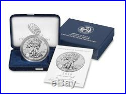 American Eagle 2019 One Ounce Silver Enhanced Reverse Proof Coin opened