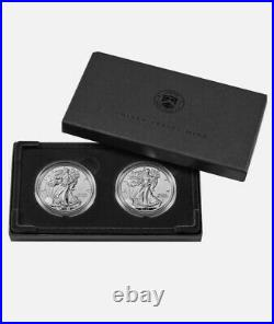 American Eagle 2021 One Ounce Silver Reverse Proof Two Coin Set 21XJ IN HAND