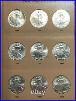 American Eagles Silver Dollars Set of 35 Full Set 1986 to 2020 in Album