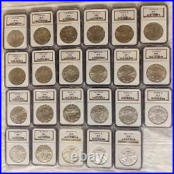 American Silver Eagle NGC MS-69 Lot of 23 $1 dollar coins 1986-2009 1 NGC box