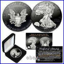 Black RUTHENIUM SILHOUETTE 1 Troy Oz US Mint 2019 American Silver Eagle with Box