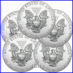 Lot of 5 2020 American Eagle Coins 1 oz. 999 Fine Silver DELAYED SHIPPING