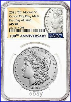 Presale 2021-CC Morgan Dollar NGC MS70 First Day of Issue