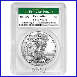 Presale 2021 (P) $1 American Silver Eagle PCGS MS70 Emergency Issue FS Philade