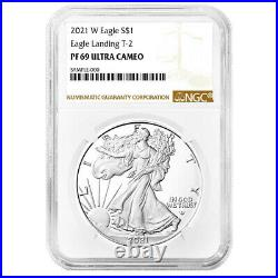 Presale 2021-W Proof $1 Type 2 American Silver Eagle NGC PF69UC Brown Label