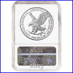 Presale 2021-W Proof $1 Type 2 American Silver Eagle NGC PF70UC Blue ER Label